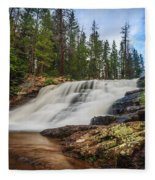 Provo River Falls 2 Fleece Blanket