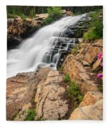 Provo River Falls 3 Fleece Blanket