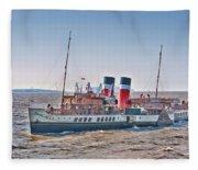 Ps Waverley Approaching Penarth Fleece Blanket