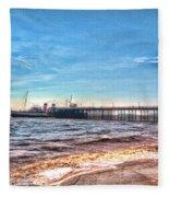 Ps Waverley At Penarth Pier 2 Fleece Blanket