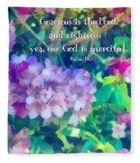 Psalm 116 5 Fleece Blanket