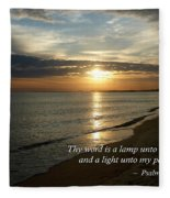 Psalm 119-105 Your Word Is A Lamp Fleece Blanket