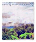 Psalm 119 123 Fleece Blanket