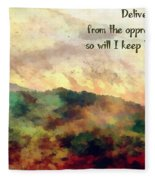 Psalm 119 134 Fleece Blanket