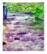 Psalm 119 136 Fleece Blanket