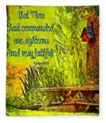 Psalm 119 138 Fleece Blanket
