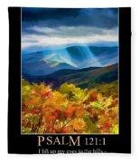 Psalm 121 Fleece Blanket