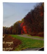 Psalm 18 32 Fleece Blanket