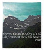 Psalm 19 1 On The Rocky Mountains Fleece Blanket
