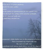 Psalm 23 Foggy Morning Fleece Blanket
