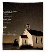 Psalm 23 Night Photography Star Trails Fleece Blanket