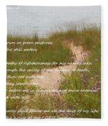 Psalm 23 Path  Fleece Blanket