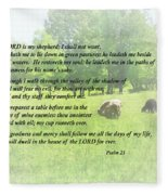 Psalm 23 The Lord Is My Shepherd Fleece Blanket