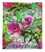 Psalm 34 1 Fleece Blanket