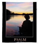 Psalm 46 Fleece Blanket