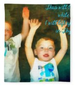 Psalm 63 4 Fleece Blanket