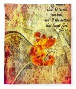 Psalm 9 17 Fleece Blanket