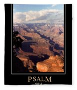 Psalm 90 Fleece Blanket