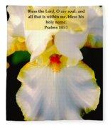 Psalms 113 V 1 Fleece Blanket