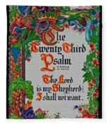 Psalms 23-1 Fleece Blanket