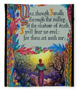 Psalms 23-4a Fleece Blanket