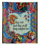 Psalms 23-4b Fleece Blanket