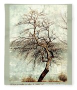 Psalms 24 V 1 Fleece Blanket
