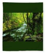 Psalms 73-26 Fleece Blanket