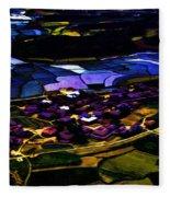 Psychadelic Aerial View Fleece Blanket