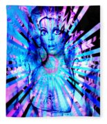 Psychedelic Barbie Fleece Blanket