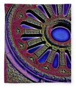 Psychedelic Church Window Fleece Blanket