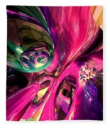 Psychedelic Fun House Abstract Fleece Blanket