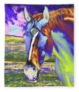 Psychedelic Horse Fleece Blanket