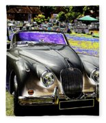 Psychedelic Jaguar Xk120 Classic Car 1 Fleece Blanket