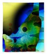 Psychedelic Kitty Fleece Blanket
