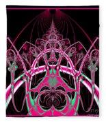 Psychedelic Rollercoaster Tunnel Fractal 65 Fleece Blanket