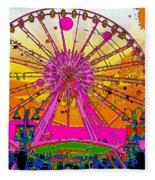 Psychedelic Sky Wheel Fleece Blanket
