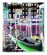 Psychedelic Venetian Scene Fleece Blanket