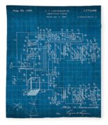 Pt Farnsworth Television Patent Blueprint 1930 Fleece Blanket