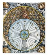 Ptolemaic Universe, 1493 Fleece Blanket