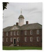 Public Hospital Colonial Williamsburg Fleece Blanket