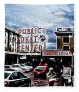 Public Market Fleece Blanket