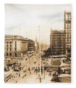 Public Square Cleveland Ohio 1912 Fleece Blanket