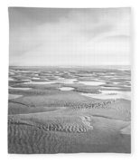Puddles Of Ocean Left Behind Fleece Blanket