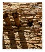 Pueblo Bonito Wall Fleece Blanket