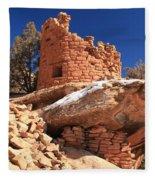 Pueblo Cliff Fleece Blanket