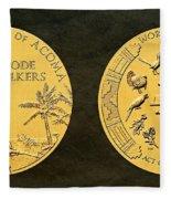 Pueblo Of Acoma Tribe Code Talkers Bronze Medal Art Fleece Blanket