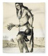 Pueblo Zuni Buffalo Dance, 1850s Fleece Blanket