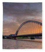 Puente De Lusitania II Fleece Blanket