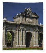 Puerta De Alcala Madrid Spain Fleece Blanket